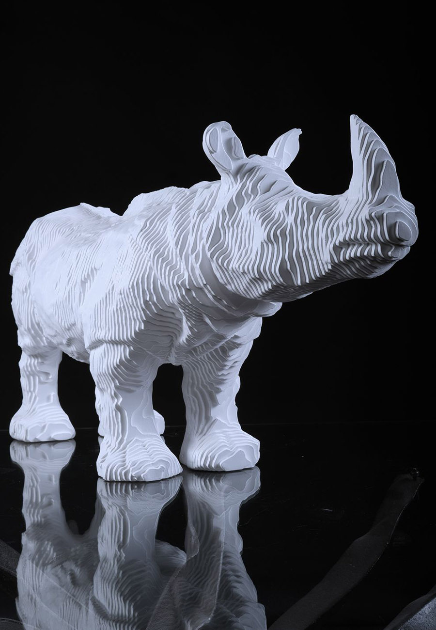 Rhinoceros Sculpture par Michel Audiard