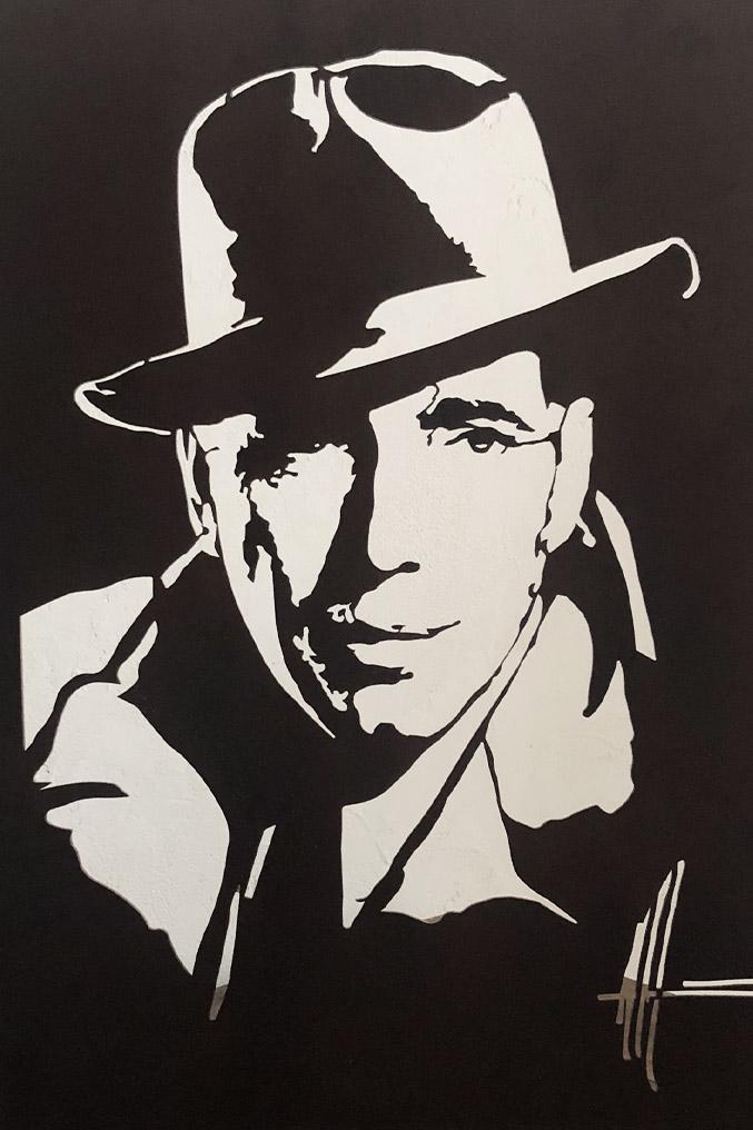 Michel Audiard Sculpteur Passages Humphrey Bogart